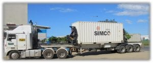 Truck load of SIMCO Mining Products