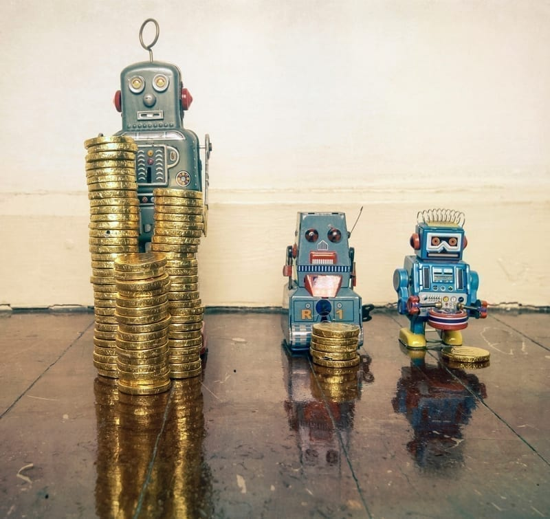 Robots with Coins